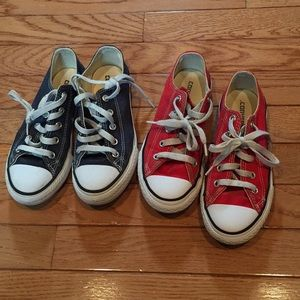 2 Pairs of Youth Converse